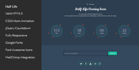 halflife-responsive-coming-soon-template