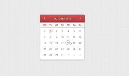 Hand Stitched Calendar PSD