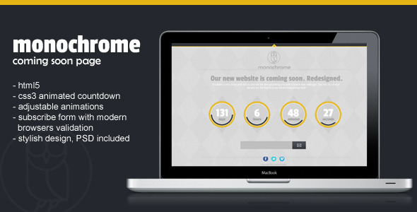 monochrome-html5css3-countdown-template