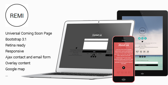 remi-responsive-universal-flat-coming-soon-page