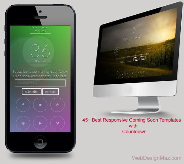 45+ Best Responsive Coming Soon Templates with Countdown