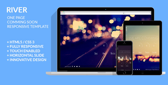 river-one-page-coming-soon-responsive-template