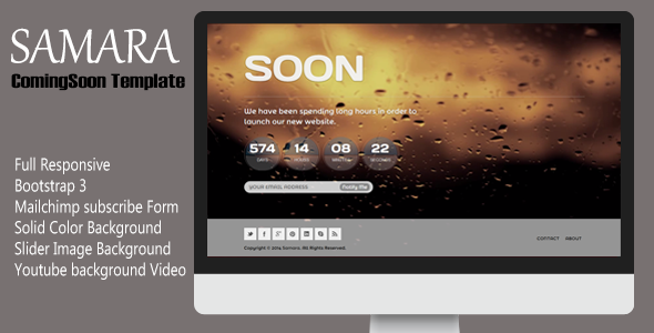 samara-responsive-coming-soon-template
