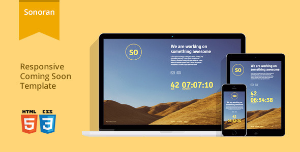sonoran-responsive-coming-soon-template