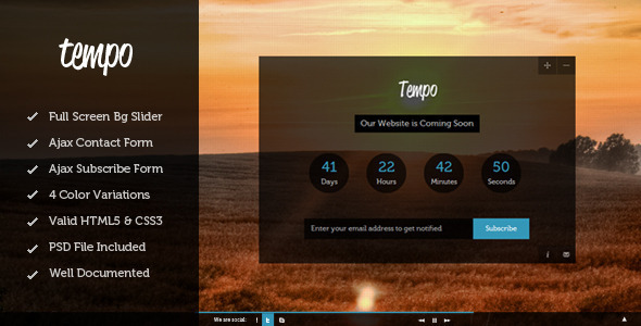 tempo-full-screen-coming-soon-template