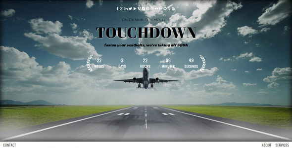 touchdown-responsive-coming-soon-page