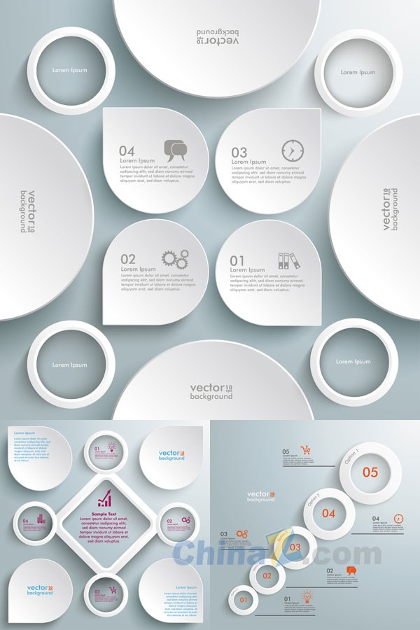 white-creative-infographic-vector
