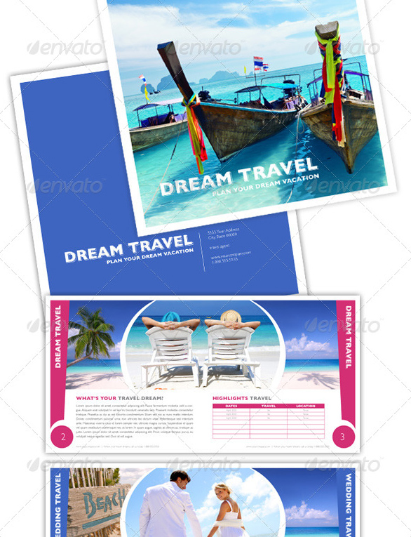 40 Best Travel and Tourist Brochure Design Templates 2016 – Vacation Brochure Template