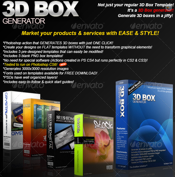 3D Box Generator Action set & Templates