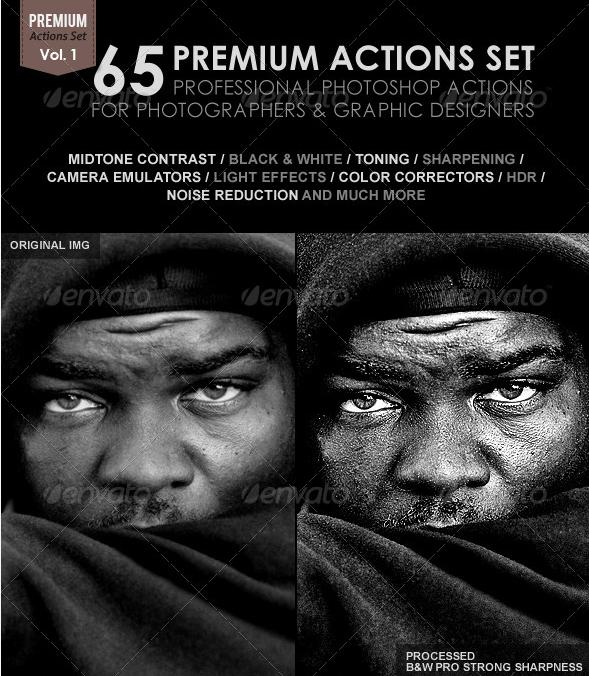 65 Premium Actions Set