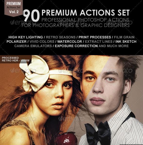 90 Premium Actions Set