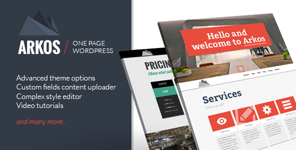 ARKOS - WordPress Responsive One-page