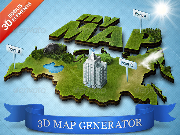 Add-ons - 3D Map Generator - Action