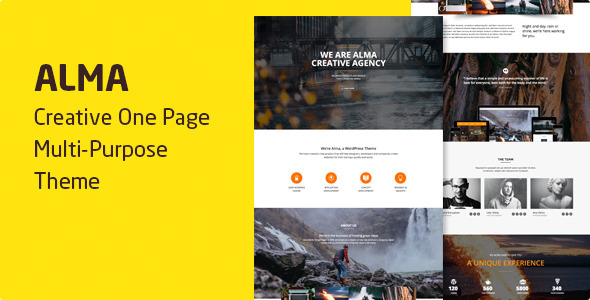 Alma - Parallax One Page Multi-Purpose Theme
