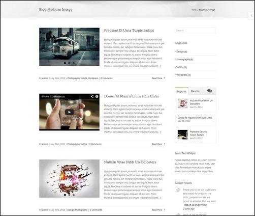 Avada Blog Layout