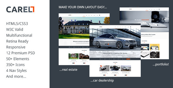 Carell - Retina Ready Multifunctional Template