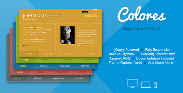 35+ Best Responsive Vcard Wordpress Themes - DesignMaz