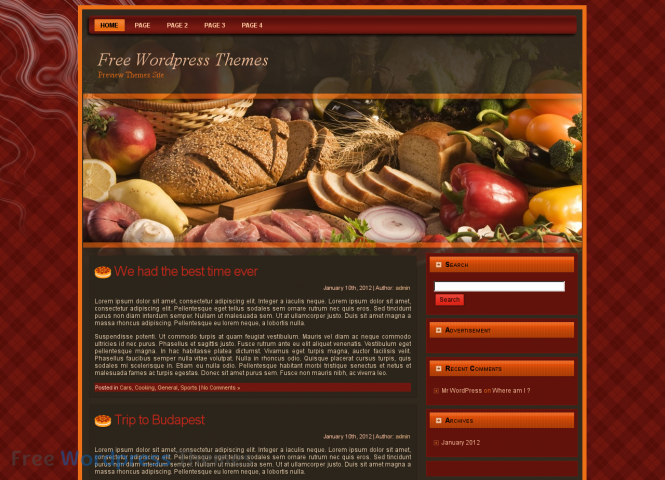 Cooking Secrets WordPress Theme
