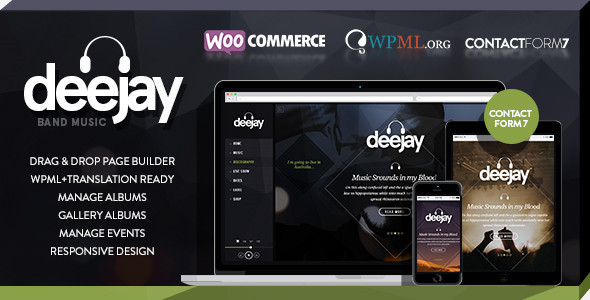 Deejay-Responsive Dj Events & Music Theme