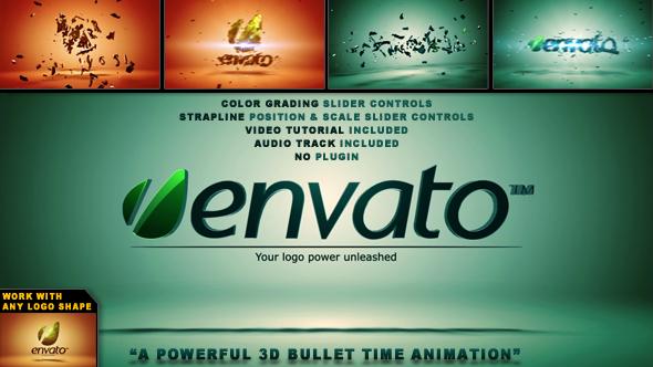 Elegant 3D Bullet Time Logo Sting