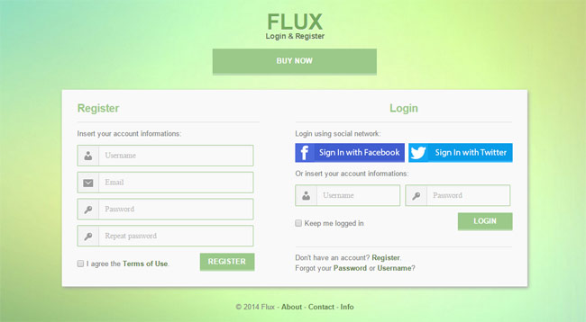 Flux-Login-Register-form-with-jQuery-Validation