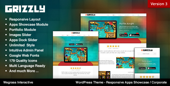 Grizzly - Responsive App Showcase - Corporate