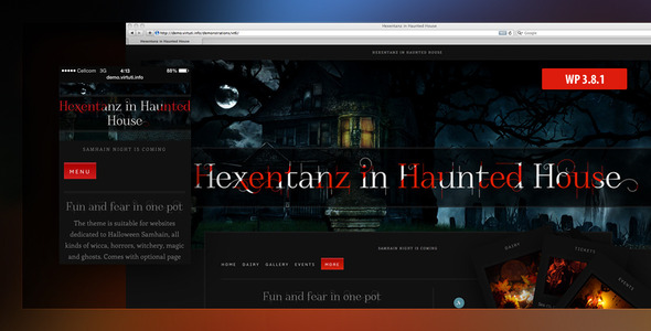 Hexentanz–Horror Halloween Events Theme For WP