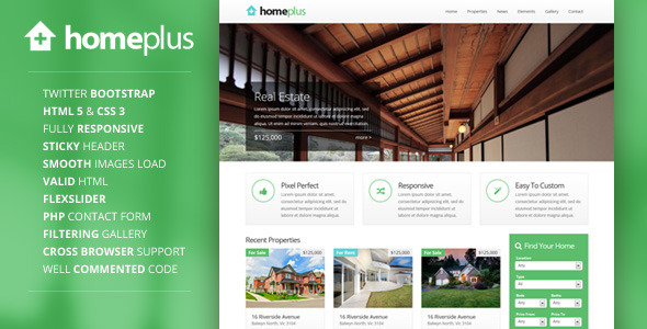 Homeplus - Responsive Real Estate Template