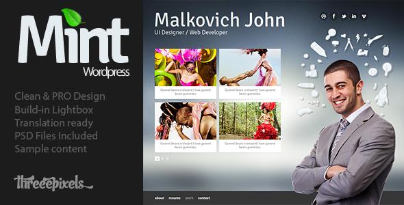 Mint - vCard WordPress Theme