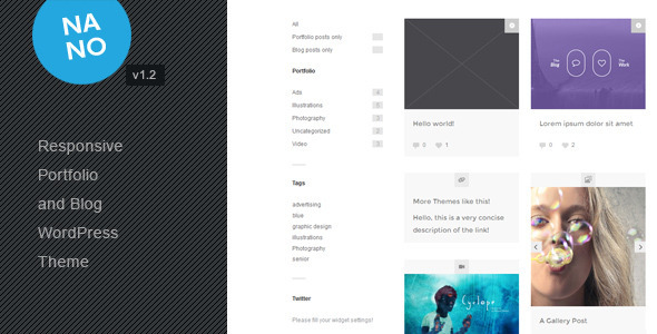 Nano - Responsive Portfolio and Blog Theme
