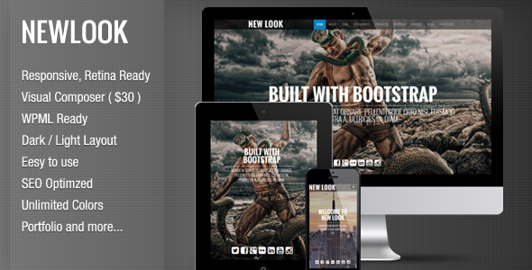 New Look - Onepage Responsive WordPress Theme