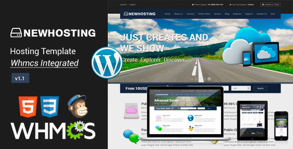 NewHosting - Responsive Hosting WordPress Theme