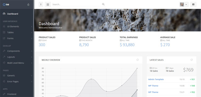OneUI-Admin-Dashboard-Template-UI-Framework