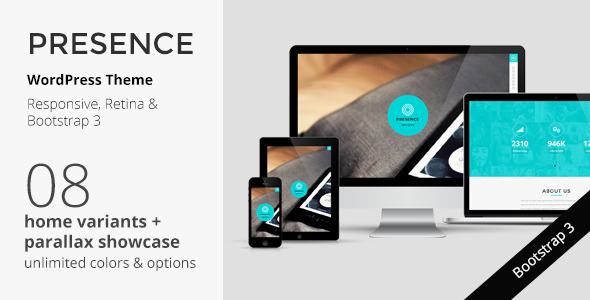 PRESENCE - WordPress Responsive One Page Parallax