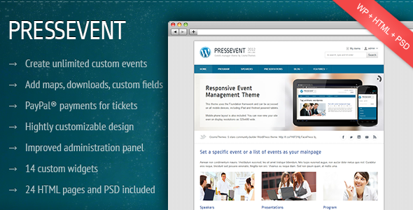 PressEvent - Event Management Theme
