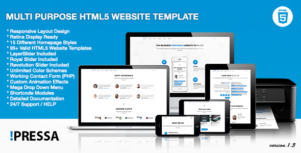 Pressa - Multi Purpose HTML5 Website Template