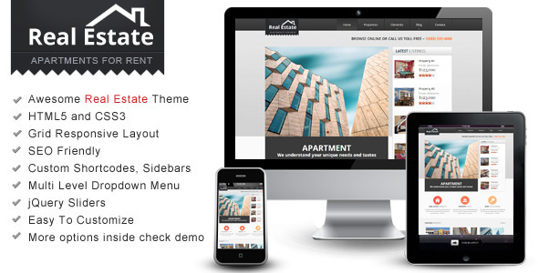 Real Estate – Responsive HTML Theme