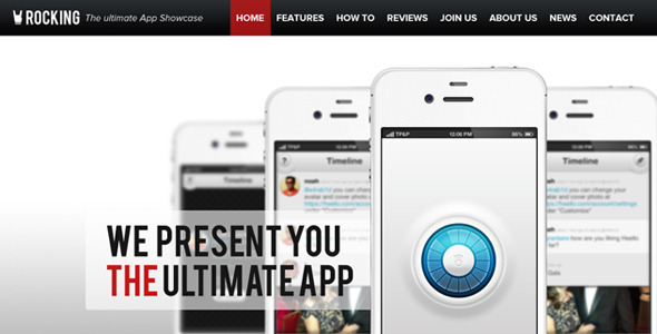 Rocking Parallax iPhone App Showcase WordPress