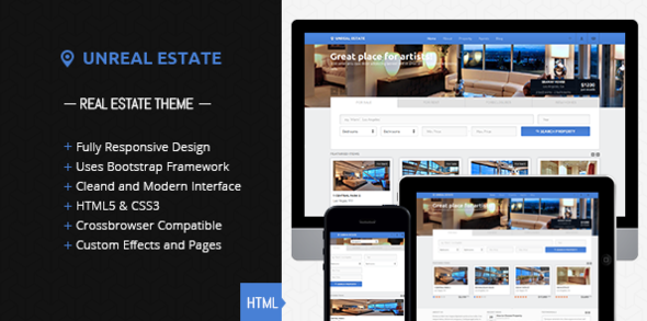 Unreal Estate - Responsive Real Estate template