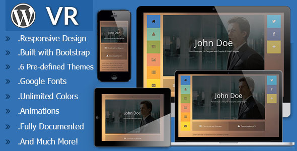 VR - Responsive vCard WordPress Theme