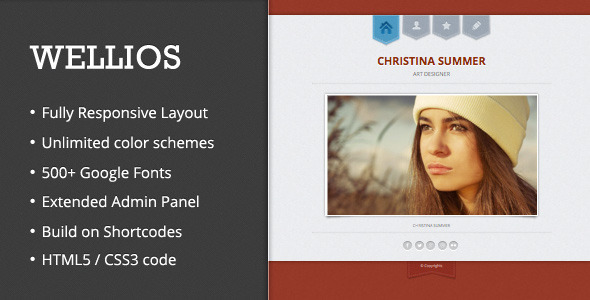 Wellios - Responsive VCard WordPress Theme