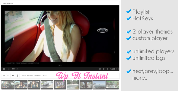 WordPress YouTube Instant Player