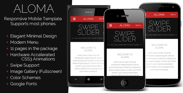 aloma-liquid-mobile-template