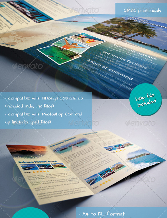 caribbean-holiday-travel-offer-trifold-brochure