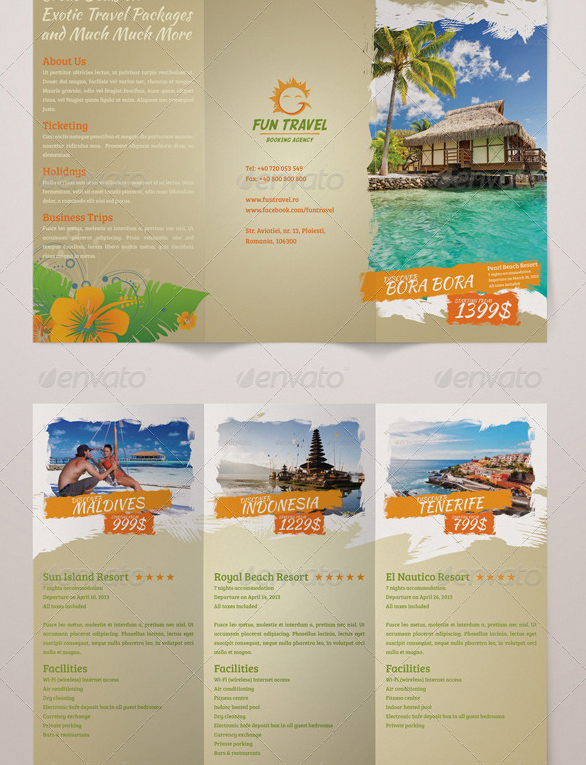 Fun Travel Trifold Brochure