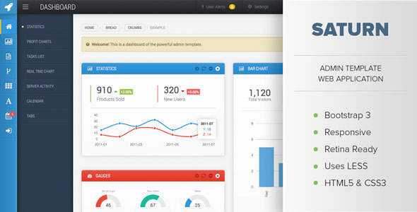 saturn-responsive-admin-dashboard-template