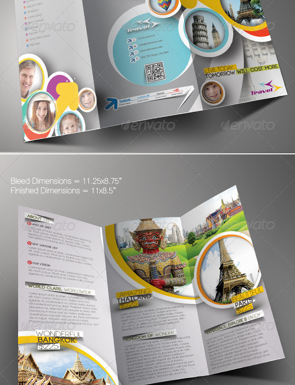 Best Travel And Tourist Brochure Design Templates Designmaz - Brochure template photoshop