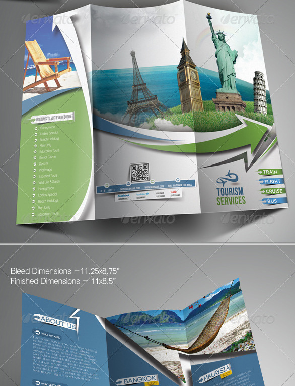 40 Best Travel and Tourist Brochure Design Templates 2016 – Tourism Brochure Template