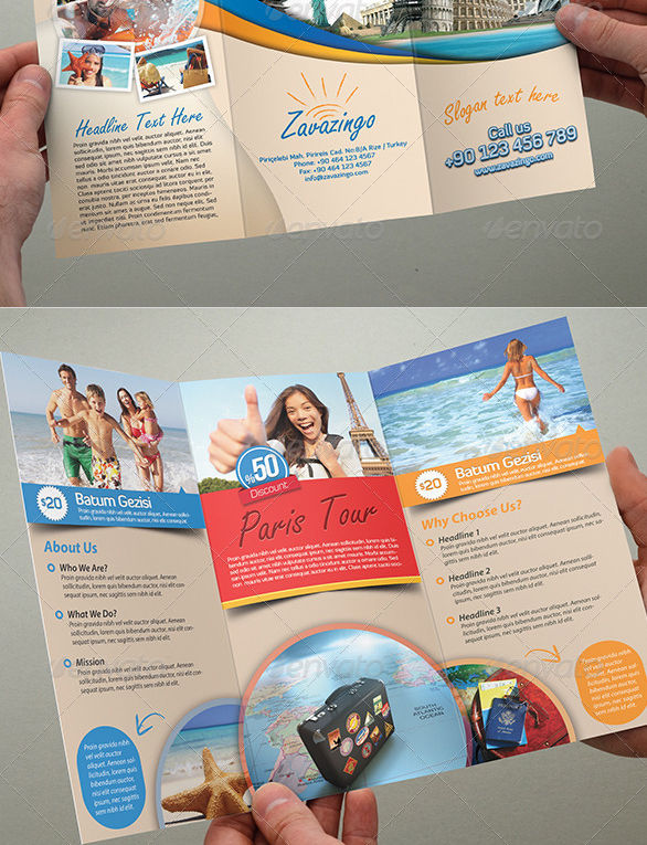 Best Travel And Tourist Brochure Design Templates Designmaz - Tourism flyer template