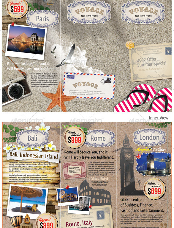 trifold travel tourism